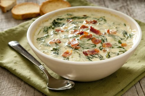 bacon spinach dip featuring field bacon